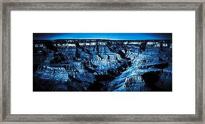 Grand Canyon In Blue Framed Print by Bartz Johnson