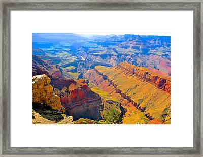 Grand Canyon In Vivid Color Framed Print