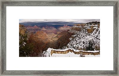 Framed Print featuring the photograph Grand Canyon In Winter by Brad Brizek