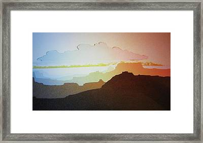 Framed Print featuring the painting Grand Canyon by John  Svenson