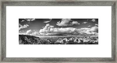 Grand Canyon Mather Point In Black  And White Framed Print by Lisa  Spencer