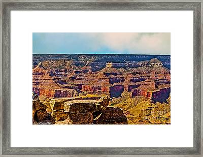 Grand Canyon Mather Viewpoint Framed Print by Bob and Nadine Johnston
