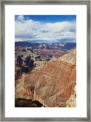 Grand Canyon Moran Point One Zero Two Framed Print by Donald Sewell