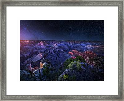 Grand Canyon Night Framed Print by Juan Pablo De