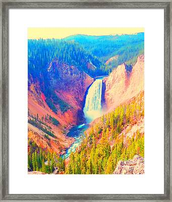 Grand Canyon Of The Yellowstone Framed Print by Ann Johndro-Collins
