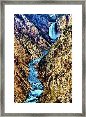 Framed Print featuring the photograph Grand Canyon Of The Yellowstone by Benjamin Yeager