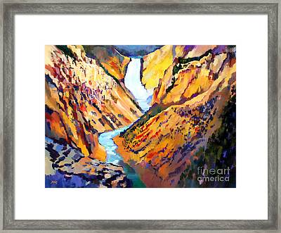 Grand Canyon Of The Yellowstone Framed Print by Bernard Marks