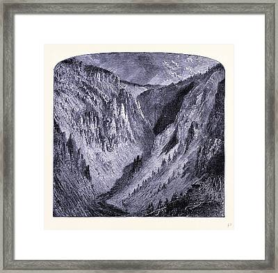 Grand Canyon Of The Yellowstone United States Of America Framed Print by American School
