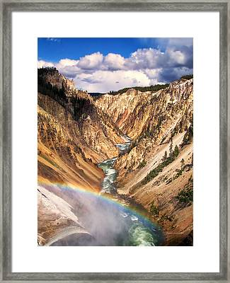 Grand Canyon Of Yellowstone 1 Framed Print