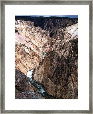 Grand Canyon Of Yellowstone 4 Framed Print