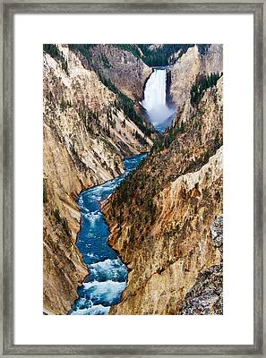 Grand Canyon Of Yellowstone Framed Print by Bill Gallagher