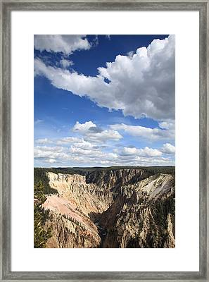 Grand Canyon Of Yellowstone Framed Print by Frank Romeo
