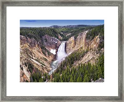 Grand Canyon Of Yellowstone National Park 3 Framed Print