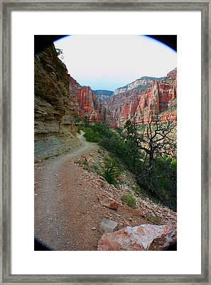 Framed Print featuring the photograph Grand Canyon Or Bust by Jon Emery
