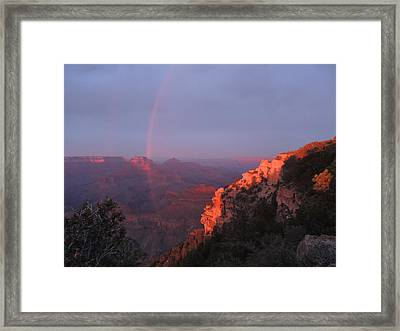 Grand Canyon Rainbow Framed Print