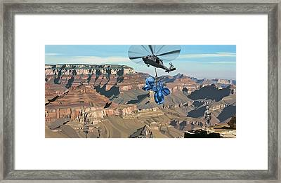 Framed Print featuring the painting Grand Canyon by Scott Listfield