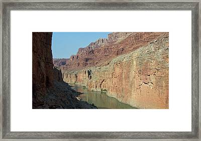 Framed Print featuring the photograph Grand Canyon Shadows by Tony Mathews