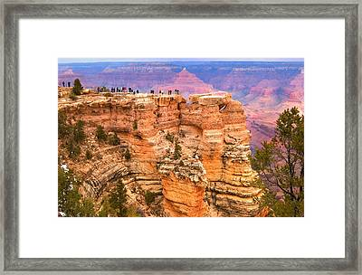 Framed Print featuring the photograph Grand Canyon South Rim by Bob Pardue