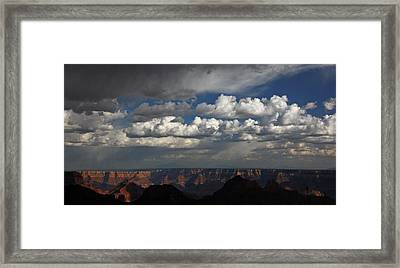 Grand Canyon Storm Framed Print