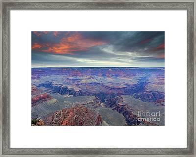 Grand Canyon Storm Set Framed Print by Mike Dawson