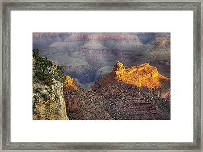 Framed Print featuring the photograph Grand Canyon Sun Rise by Michael Hope