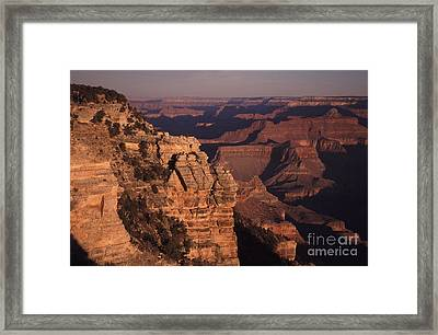 Framed Print featuring the photograph Grand Canyon Sunrise by Liz Leyden