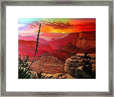 Grand Canyon Sunset Framed Print by Dan Terry