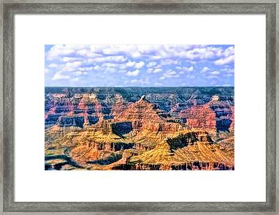 Framed Print featuring the painting Grand Canyon by Tracie Kaska