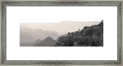 Grand Canyon Waking Up Bw Framed Print by Patrick Jacquet