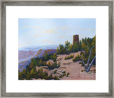 Grand Canyon Watchtower Framed Print