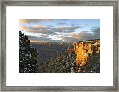 Grand Canyon. Winter Sunset Framed Print by Ben and Raisa Gertsberg