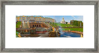 Grand Cascade Fountain In Front Framed Print