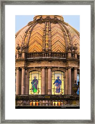 Grand Cathedral Of Guadalajara Framed Print by David Perry Lawrence