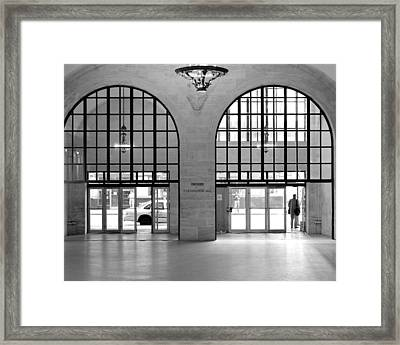 Framed Print featuring the photograph Grand Central Arches Entrance by Dave Beckerman