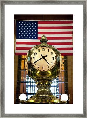 Grand Central Clock Framed Print by Brian Jannsen