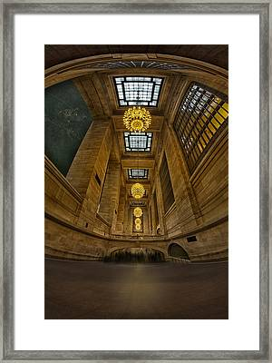 Grand Central Corridor Framed Print by Susan Candelario