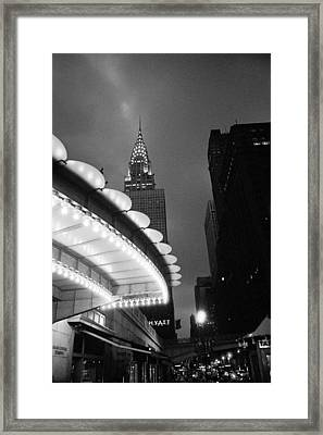 Framed Print featuring the photograph New York City -grand Central Dawn by Dave Beckerman