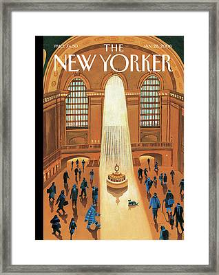 Grand Central Heating Framed Print