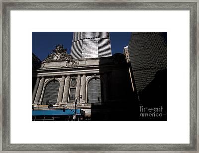 Grand Central In Evening Shadows Framed Print by David Bearden
