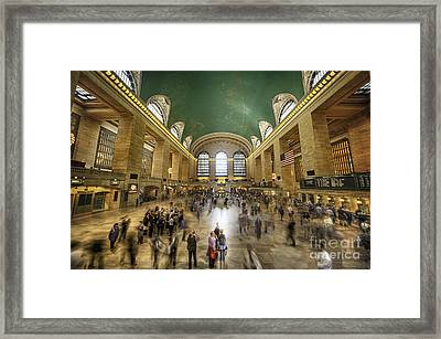Grand Central Rush Framed Print