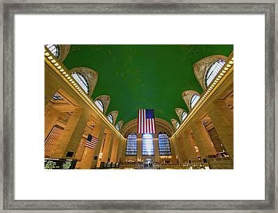 Grand Central Station Panoramic View Framed Print