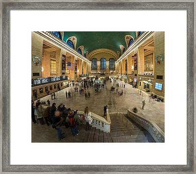 Framed Print featuring the photograph Grand Central Station by Steve Zimic