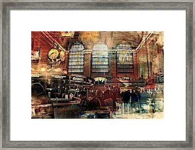 Grand Central Terminal 100 Years Framed Print by Diana Angstadt