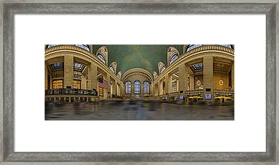 Grand Central Terminal 180 Panorama  Framed Print by Susan Candelario