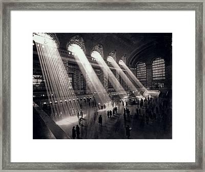 Grand Central Terminal 1930 Framed Print by Daniel Hagerman