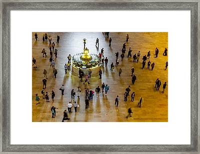Grand Central Terminal Clock Birds Eye View  Framed Print by Susan Candelario