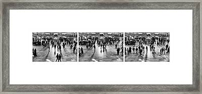Grand Central Terminal Collage Framed Print by John Rizzuto