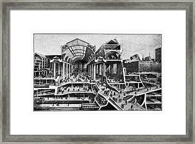 Grand Central Terminal Construction Framed Print by Science Photo Library
