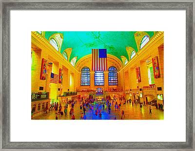 Grand Central Terminal Framed Print by Dan Hilsenrath