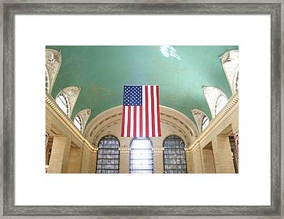 Grand Central Terminal Details Framed Print by Erin Cadigan